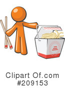 Royalty-Free (RF) Orange Man Clipart Illustration #209153