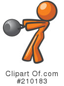 Royalty-Free (RF) Orange Man Clipart Illustration #210183