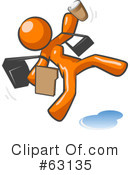Orange Man Clipart #63135 by Leo Blanchette