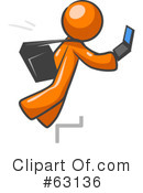 Royalty-Free (RF) orange man Clipart Illustration #63136