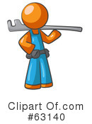Orange Man Clipart #63140 by Leo Blanchette