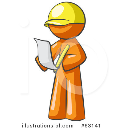 Contractor Clipart #63141 by Leo Blanchette