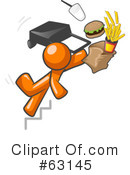 Royalty-Free (RF) Orange Man Clipart Illustration #63145