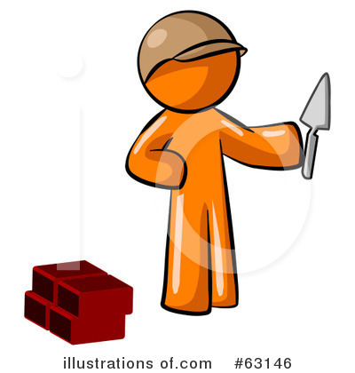 Royalty-Free (RF) Orange Man Clipart Illustration by Leo Blanchette - Stock Sample #63146