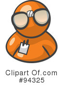 Orange Man Clipart #94325 by Leo Blanchette