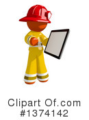 Orange Man Firefighter Clipart #1374142 by Leo Blanchette
