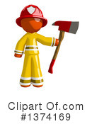 Orange Man Firefighter Clipart #1374169