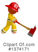 Orange Man Firefighter Clipart #1374171