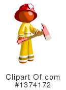 Orange Man Firefighter Clipart #1374172
