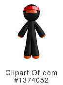 Orange Man Ninja Clipart #1374052 by Leo Blanchette
