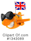 Orange Plane Clipart #1343089