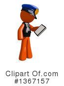 Orange Police Officer Clipart #1367157 by Leo Blanchette