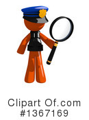 Orange Police Officer Clipart #1367169 by Leo Blanchette