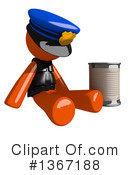 Orange Police Officer Clipart #1367188