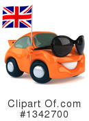 Orange Porsche Clipart #1342700