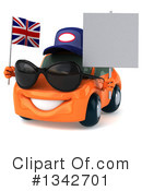 Orange Porsche Clipart #1342701