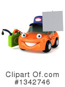 Orange Porsche Clipart #1342746 by Julos