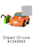 Orange Porsche Clipart #1349954 by Julos