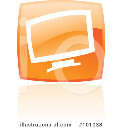 Orange Square Icons Clipart #101033 by cidepix