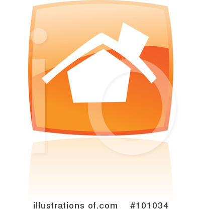 Orange Square Icons Clipart #101034 by cidepix