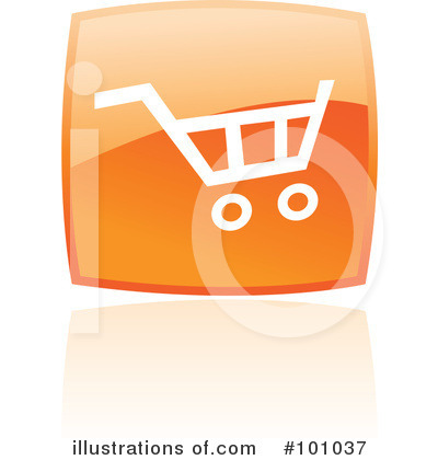 Orange Square Icons Clipart #101037 by cidepix