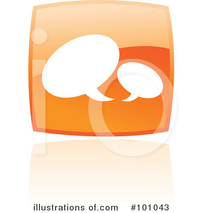 Orange Square Icons Clipart #101043 by cidepix