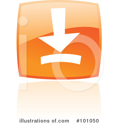 Orange Square Icons Clipart #101050 by cidepix