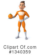 Orange Super Hero Clipart #1340359 by Julos