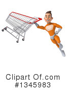 Royalty-Free (RF) Orange Super Hero Clipart Illustration #1345983