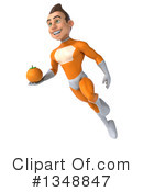 Royalty-Free (RF) Orange Super Hero Clipart Illustration #1348847