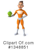Royalty-Free (RF) Orange Super Hero Clipart Illustration #1348851