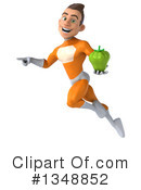 Royalty-Free (RF) Orange Super Hero Clipart Illustration #1348852
