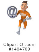 Orange Super Hero Clipart #1404709 by Julos