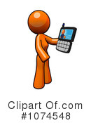 Orange Woman Clipart #1074548 by Leo Blanchette