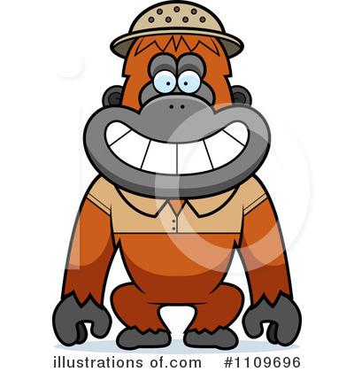 orangutan clipart 1109696 illustration by cory thoman rh illustrationsof com baby orangutan clipart orange orangutan clipart