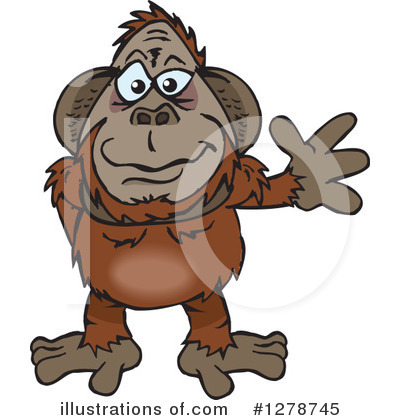 Monkey Clipart #1278745 by Dennis Holmes Designs