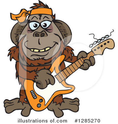 Monkey Clipart #1285270 by Dennis Holmes Designs