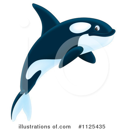 Royalty-Free (RF) Orca Clipart Illustration by Alex Bannykh - Stock Sample #1125435
