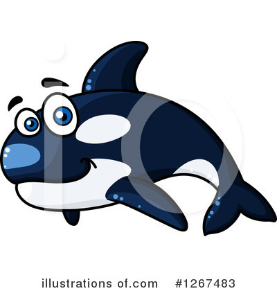 Whale Clipart #1267483 by Vector Tradition SM
