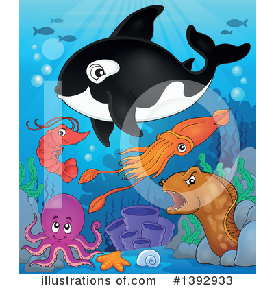 Royalty-Free (RF) Orca Clipart Illustration by visekart - Stock Sample #1392933