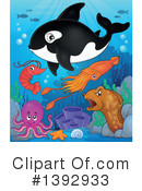 Royalty-Free (RF) Orca Clipart Illustration #1392933