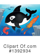 Royalty-Free (RF) Orca Clipart Illustration #1392934