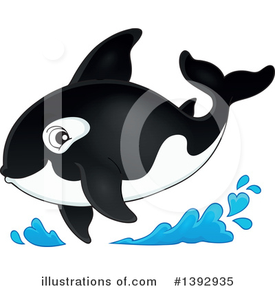 Orca Clipart #1392935 by visekart