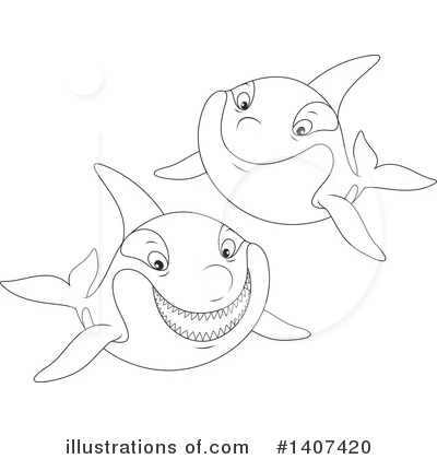 Orca Clipart #1407420 by Alex Bannykh