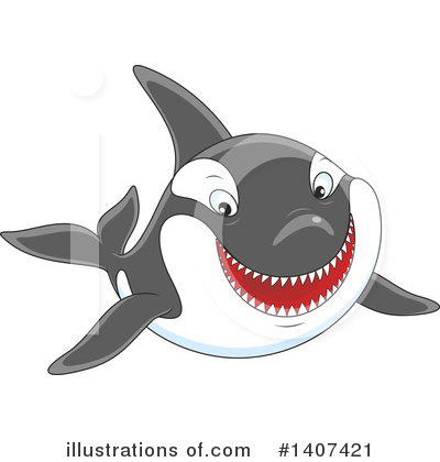 Orca Clipart #1407421 by Alex Bannykh