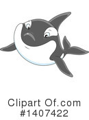 Orca Clipart #1407422 by Alex Bannykh
