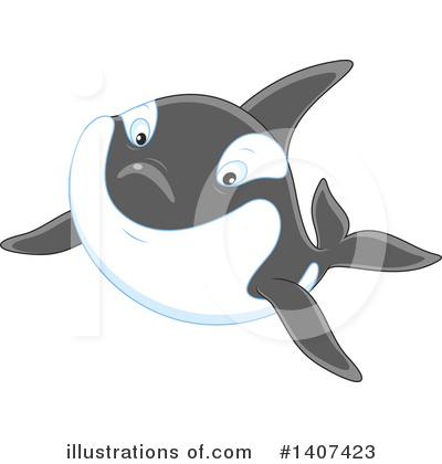 Orca Clipart #1407423 by Alex Bannykh