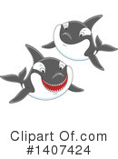Orca Clipart #1407424 by Alex Bannykh