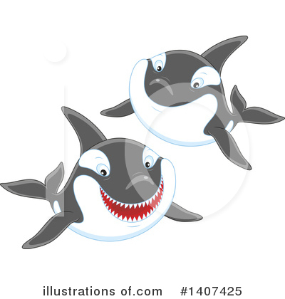 Orca Clipart #1407425 by Alex Bannykh