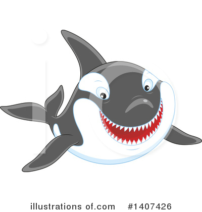 Orca Clipart #1407426 by Alex Bannykh